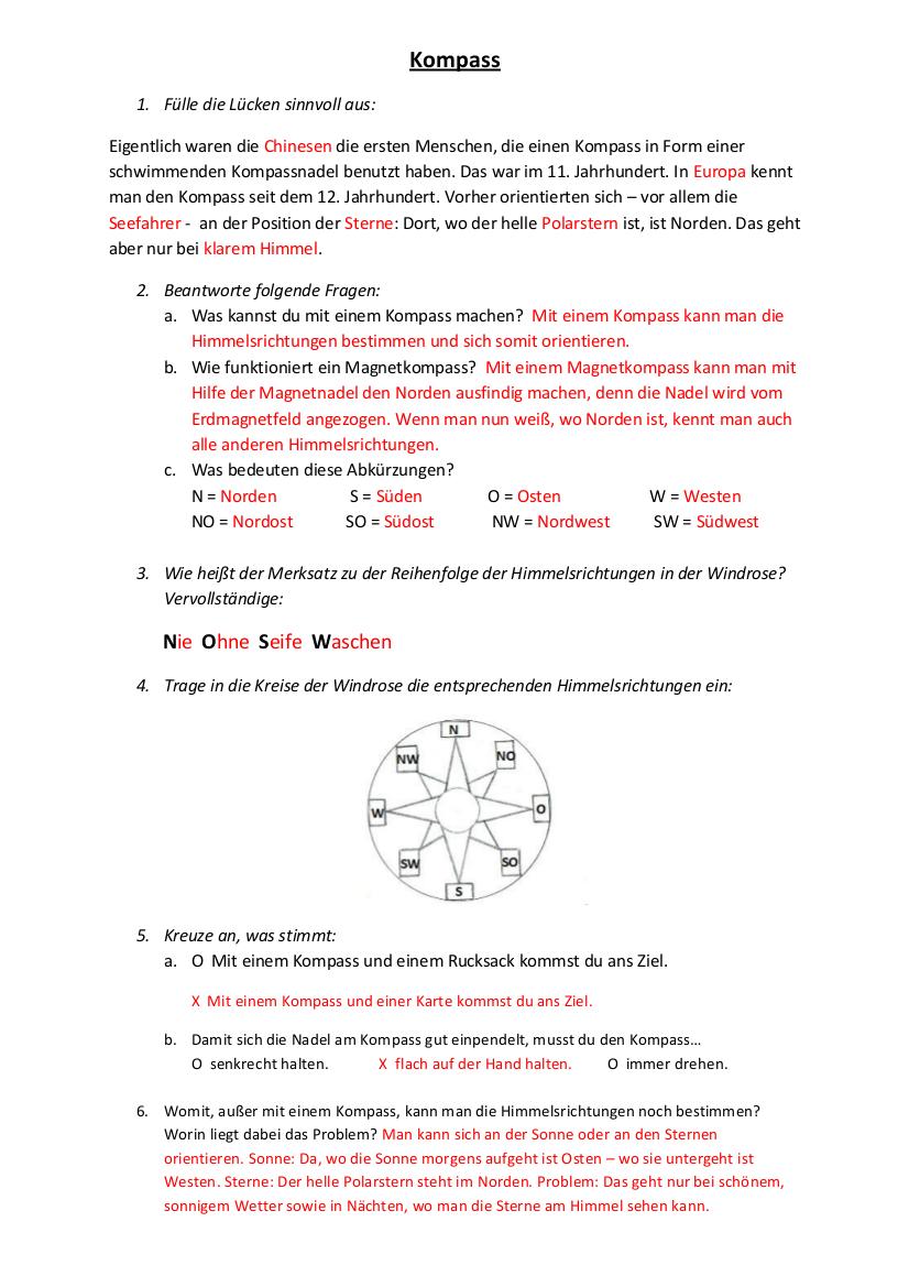 Kompass Grundschule Sachunterricht